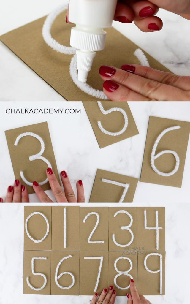 How to make tactile pipe cleaner numbers
