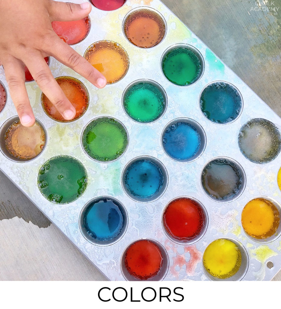 Bilingual color learning activities for kids